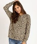 Leopard Patterns Long Sleeves Medium T-Shirts