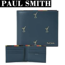 Paul Smith Studded Street Style Leather Folding Wallets