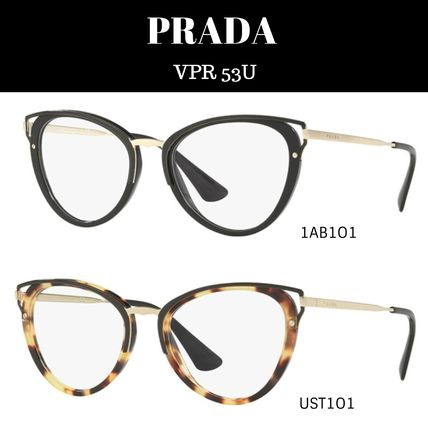 abad81458921 PRADA Cat Eye Glasses Optical Eyewear (VPR 53U) by MoodyBlues - BUYMA