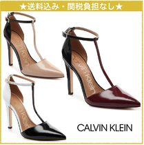 Calvin Klein Faux Fur Pin Heels Elegant Style Pointed Toe Pumps & Mules