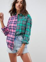 ASOS Other Check Patterns Casual Style Long Sleeves Cotton
