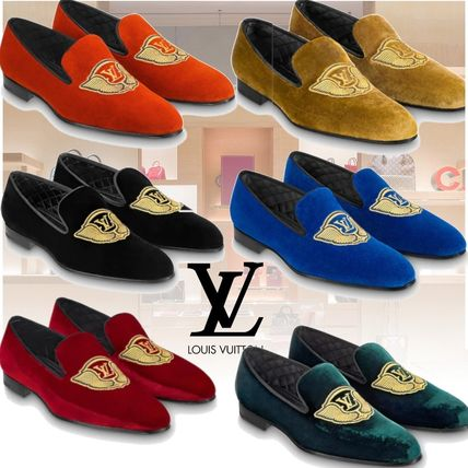 c595ddd8490e ... Louis Vuitton Loafers   Slip-ons Plain Toe Loafers Velvet Plain Loafers  ...