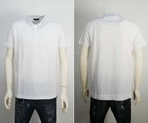 FENDI Street Style Plain Cotton Short Sleeves Polos
