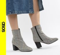 ASOS Other Check Patterns Casual Style Block Heels