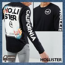 Hollister Co. Crew Neck Pullovers Street Style Long Sleeves Cotton