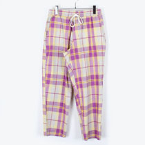 Urban Outfitters Printed Pants Tartan Cotton Patterned Pants