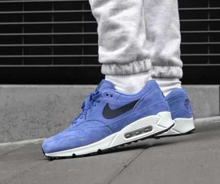 timeless design 97bb5 3117d Nike AIR MAX 90 2018-19AW Suede Street Style Plain Sneakers (AJ7695 500)