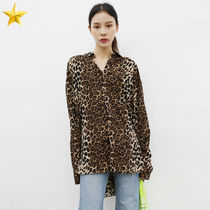 Leopard Patterns Casual Style Unisex Street Style