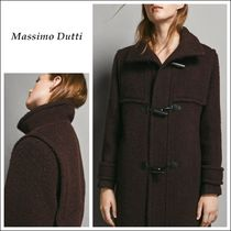 Massimo Dutti Wool Plain Medium Elegant Style Duffle Coats