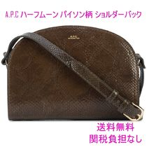 A.P.C. Casual Style Street Style Leather Python Shoulder Bags