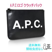 A.P.C. Unisex Street Style PVC Clothing Clutches