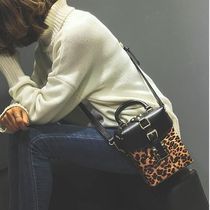 Leopard Patterns Casual Style Street Style 2WAY Handbags