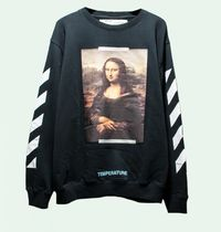 Off-White Street Style U-Neck Long Sleeves Long Sleeve T-Shirts