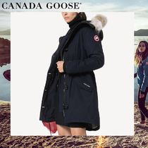 CANADA GOOSE ROSSCLAIR Casual Style Plain Medium Parkas