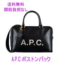 A.P.C. Unisex Street Style PVC Clothing Boston Bags