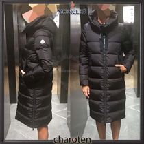 MONCLER Street Style Plain Long Down Jackets