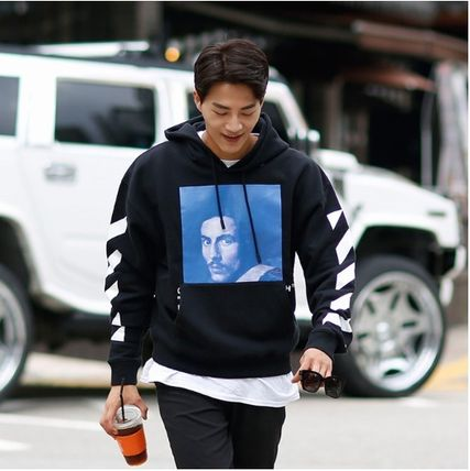 Off-White Hoodies Street Style Long Sleeves Plain Cotton Hoodies 2