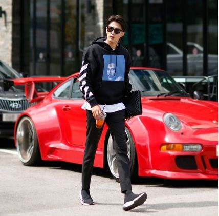 Off-White Hoodies Street Style Long Sleeves Plain Cotton Hoodies 3