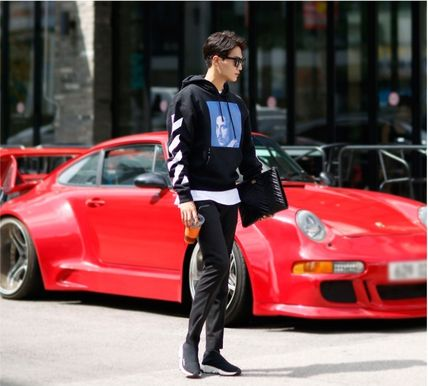 Off-White Hoodies Street Style Long Sleeves Plain Cotton Hoodies 4