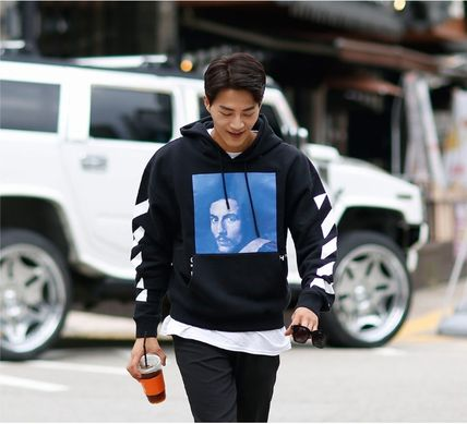 Off-White Hoodies Street Style Long Sleeves Plain Cotton Hoodies 5