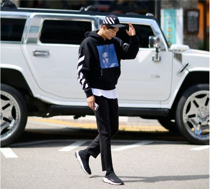 Off-White Hoodies Street Style Long Sleeves Plain Cotton Hoodies 6