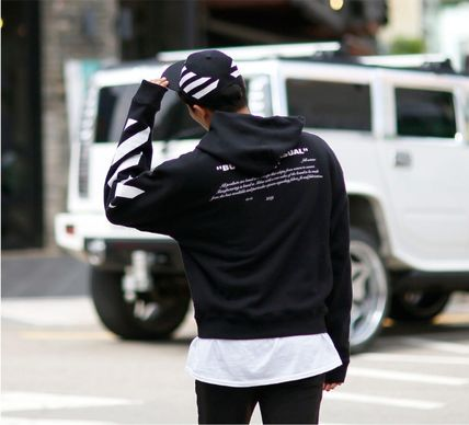 Off-White Hoodies Street Style Long Sleeves Plain Cotton Hoodies 7
