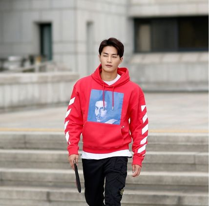 Off-White Hoodies Street Style Long Sleeves Plain Cotton Hoodies 13