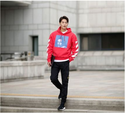 Off-White Hoodies Street Style Long Sleeves Plain Cotton Hoodies 17