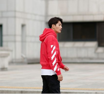 Off-White Hoodies Street Style Long Sleeves Plain Cotton Hoodies 18