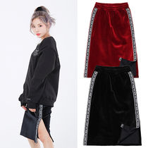 NASTYKICK Pencil Skirts Casual Style Street Style Plain Long