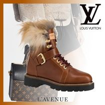 Louis Vuitton Monoglam Platform Mountain Boots Leather Elegant Style