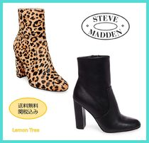 Steve Madden Round Toe Casual Style Leather Ankle & Booties Boots