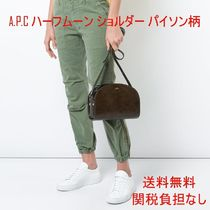 A.P.C. Casual Style Unisex Street Style Leather Shoulder Bags