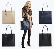 MARC JACOBS Casual Style A4 Bi-color Plain Leather Totes