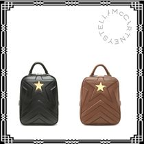 Stella McCartney Star Casual Style Leather Backpacks