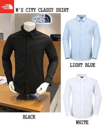fbce4174fc906 THE NORTH FACE Street Style Long Sleeves Plain Cotton Shirts ...