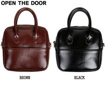 OPEN THE DOOR Casual Style Street Style Plain Shoulder Bags