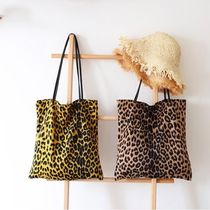 Leopard Patterns Casual Style Street Style A4 Totes