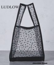 Ron Herman Dots A4 Handmade With Jewels Elegant Style Straw Bags