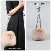Ron Herman Fur Handmade Party Style Purses Straw Bags