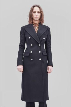Cashmere Plain Long Elegant Style Chester Coats