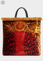 VERSACE Blended Fabrics A4 Totes