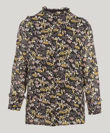 Flower Patterns Casual Style Long Sleeves Medium