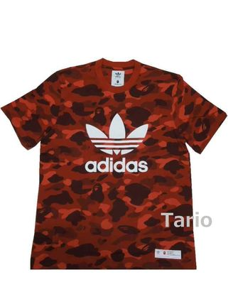 A BATHING APExadidas CAMO S/S TEE RED Size 3XL