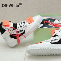 Off-White Street Style Plain Leather Oversized Sneakers