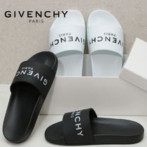 GIVENCHY Street Style Plain Shower Shoes Oversized Shower Sandals