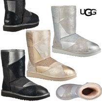 UGG Australia Other Check Patterns Round Toe Sheepskin Boots Boots