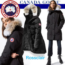 CANADA GOOSE ROSSCLAIR Blended Fabrics Plain Medium Parkas