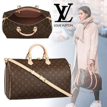 Louis Vuitton SPEEDY Monoglam Cambus 2WAY Bi-color Elegant Style Boston & Duffles