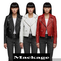 Mackage Short Plain Leather Biker Jackets